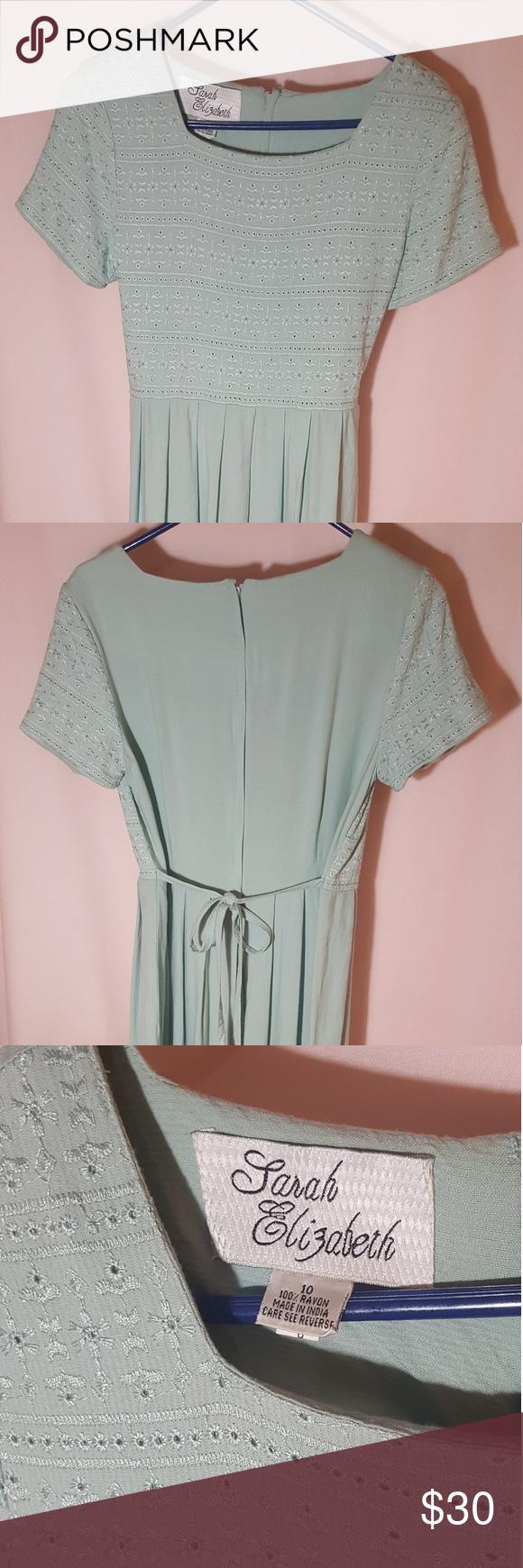 Vintage Sarah Elizabeth mint green maxi dress EUC gorgeous ...
