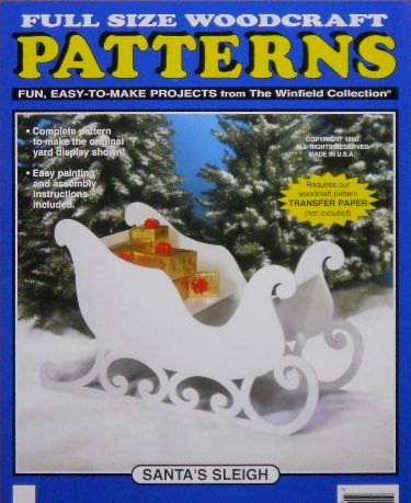 santas wood sleigh santas sleigh large size wood craft pattern by docholidays christmas sled - Decorative Christmas Sleigh Large