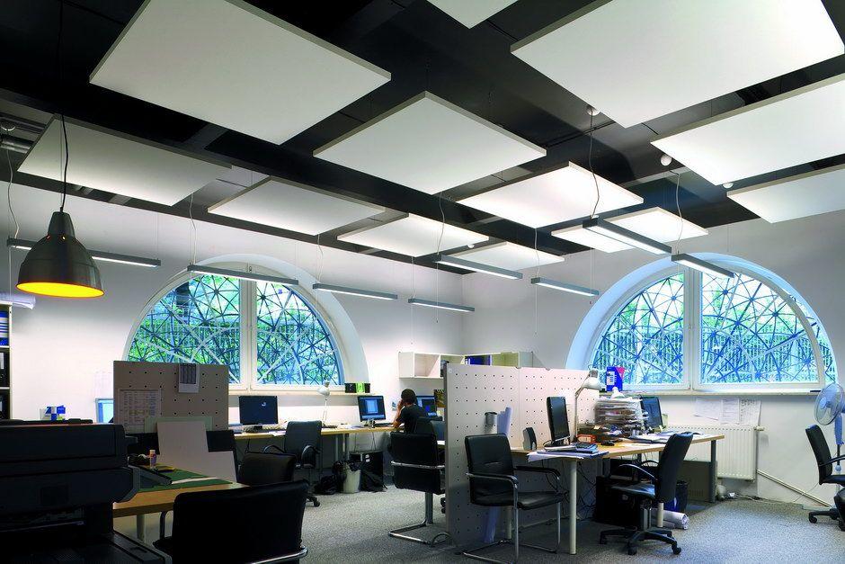Optimale Raumakustik für Bürou0027s mit Ecophon Solo Deckensegel http - deckengestaltung deckensegel