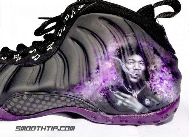 0ef81b22ce4 Close up of the Purple Haze Jimmy Hendricks Nike Foamposites BOW ...