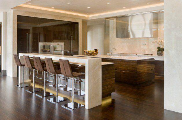 30 Elegant Contemporary Breakfast Bar Design Ideas Kitchen Home