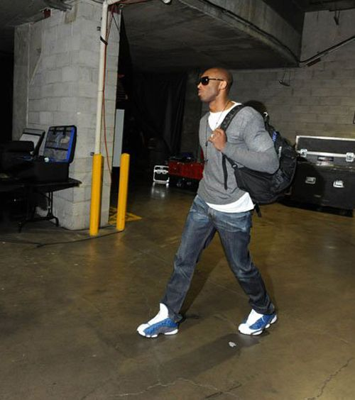 Mamba in some Flint J 13's | Celebrity sneakers