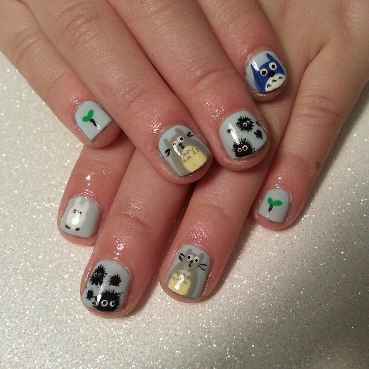 My neighbor totoro nails. Japanese anime (With images ...