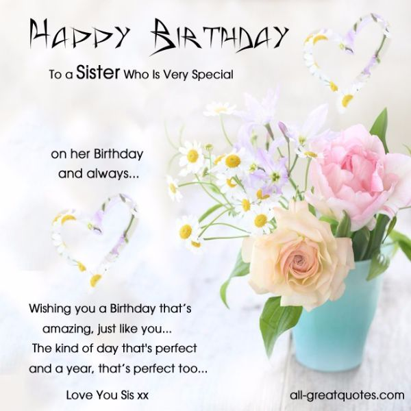 106 Best Happy Birthday Wishes for Sister with Images – Birthday Greeting for Her