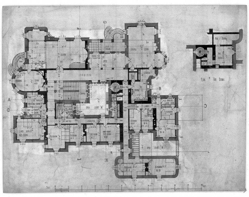 Principal Floor Plan With Measurements Ink And Wash