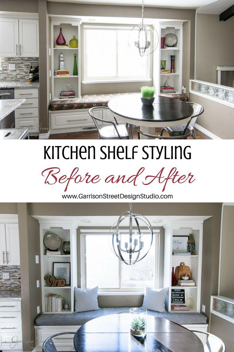 Kitchen Shelf Styling with Free Printable | Kitchen shelf decor ...