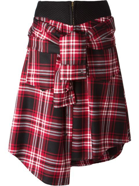 Shop David Szeto  tartan knotted shirt skirt in Work In Progress from the world's best independent boutiques at farfetch.com. Over 1000 designers from 60 boutiques in one website.