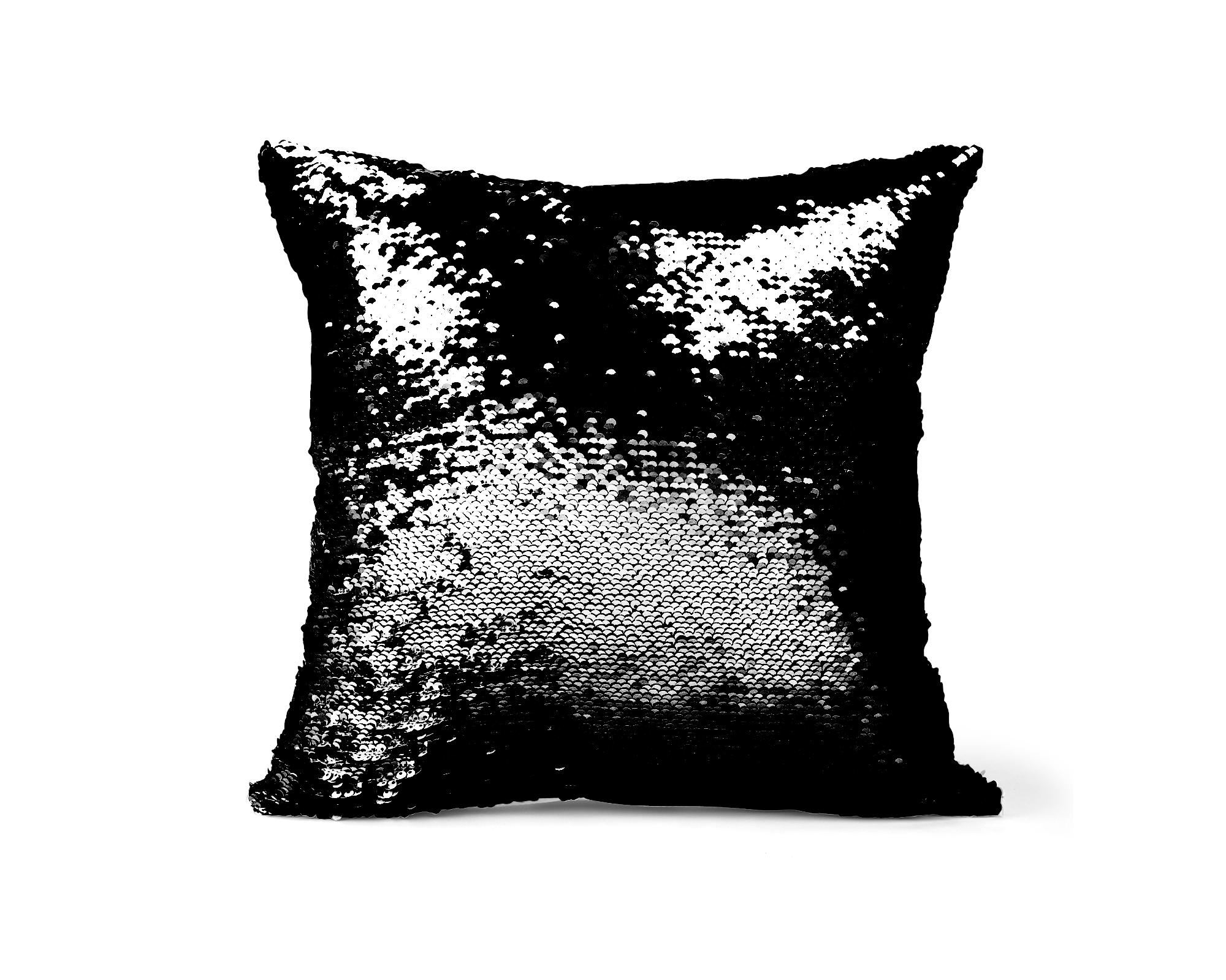 reversible sequin pillow cover cat s