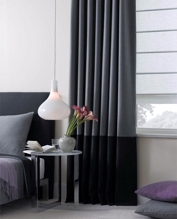 Window Treatments In Material Wool Flannel Colors Ash And