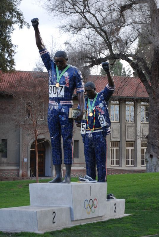 This Statue Honors A Controversial Olympic Black Power Protest Black Power Tommie Smith Black Protests