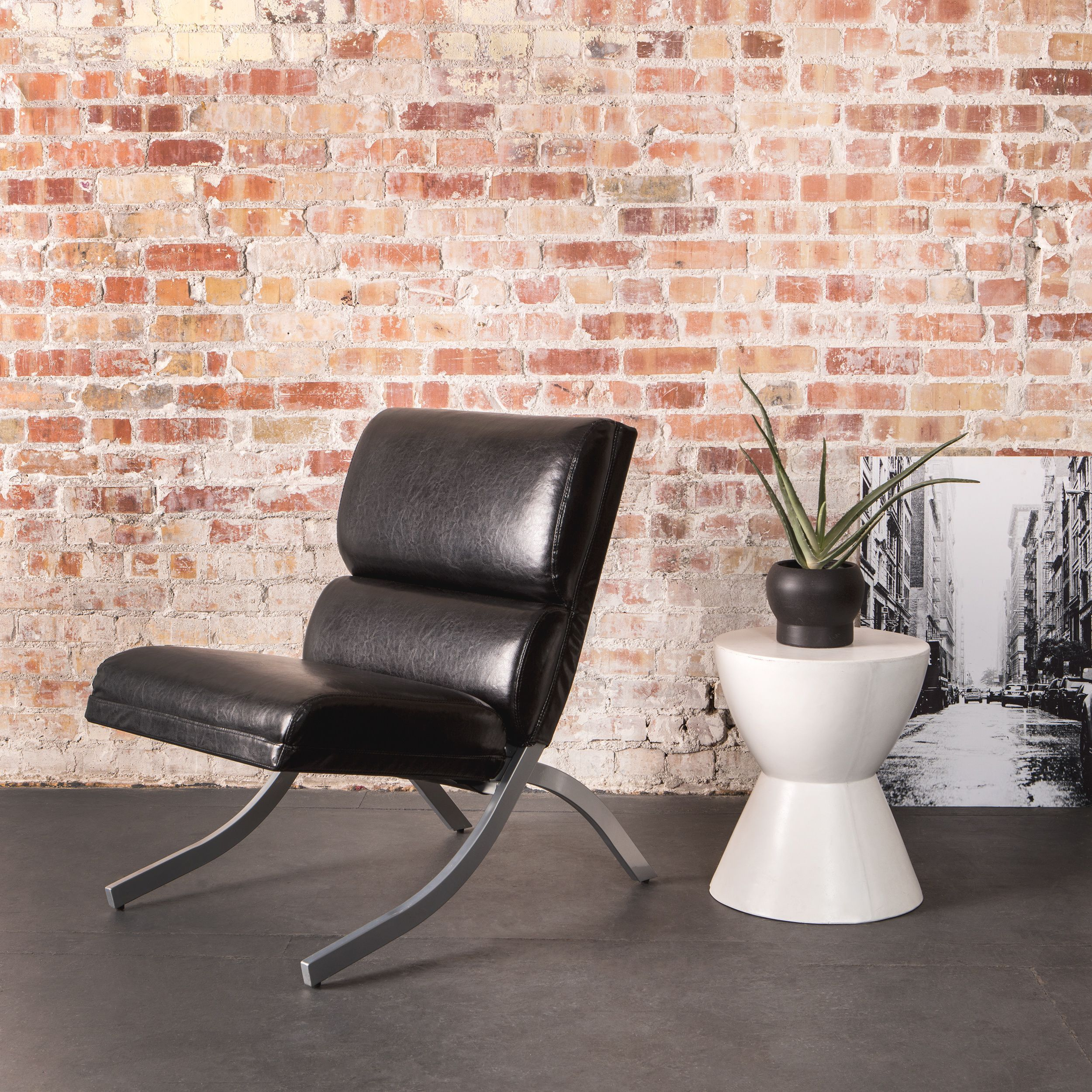 Admirable Strick Bolton Rialto Black Bonded Leather Chair Faux Alphanode Cool Chair Designs And Ideas Alphanodeonline