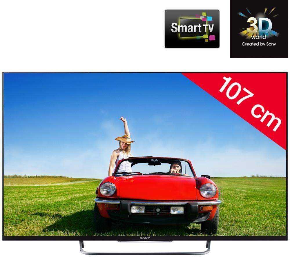 sony bravia kdl 42w805b t l viseur led 3d smart tv tv led carrefour carrefour pinterest. Black Bedroom Furniture Sets. Home Design Ideas