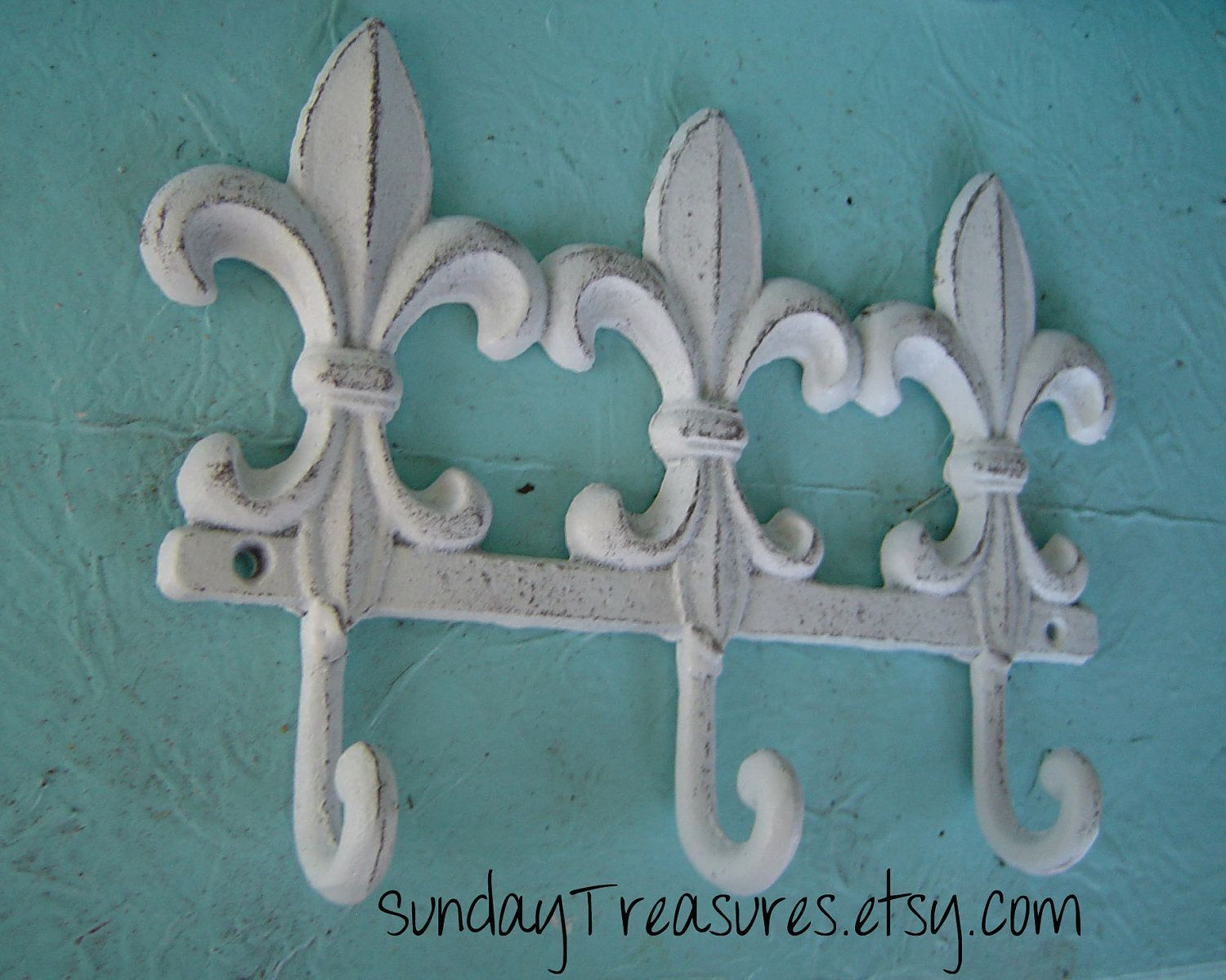 Fleur De Lis / Triple Hook / Sign / Iron / Bath towel / Paris ...