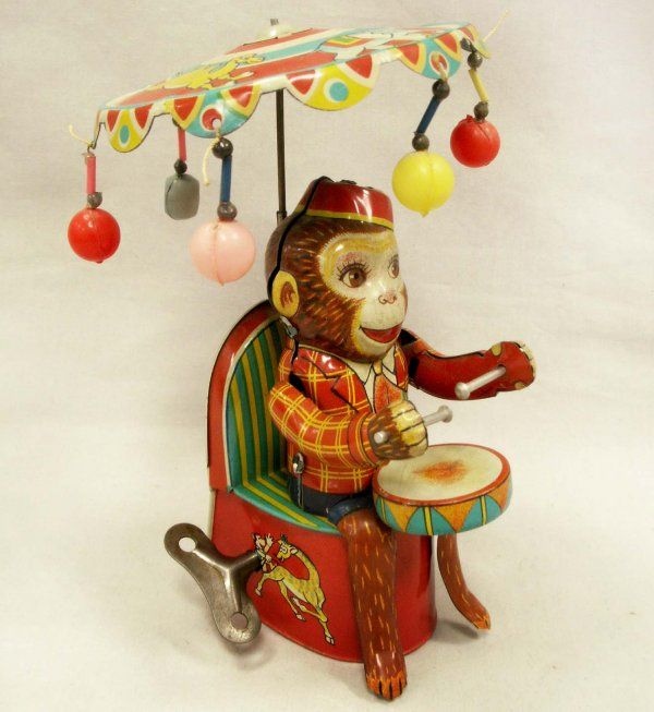1093 san tin mechanical toy drumming monkey lot 1093 monkey business pinterest monkey. Black Bedroom Furniture Sets. Home Design Ideas