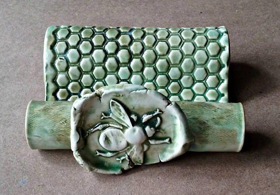 Ceramic Sponge Holder Business Card Holder Cell Phone Holder