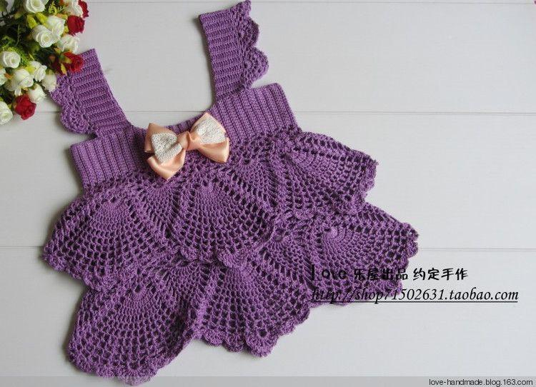 Crochet Knitting Handicraft: purple Ming, Tata children clothing
