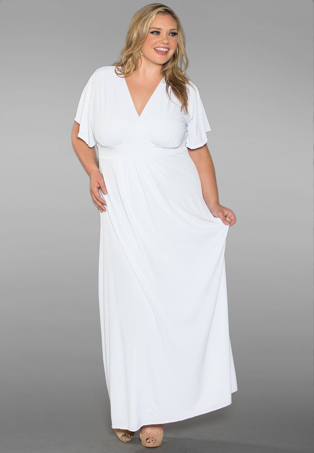White Maxi Plus Size Dresses