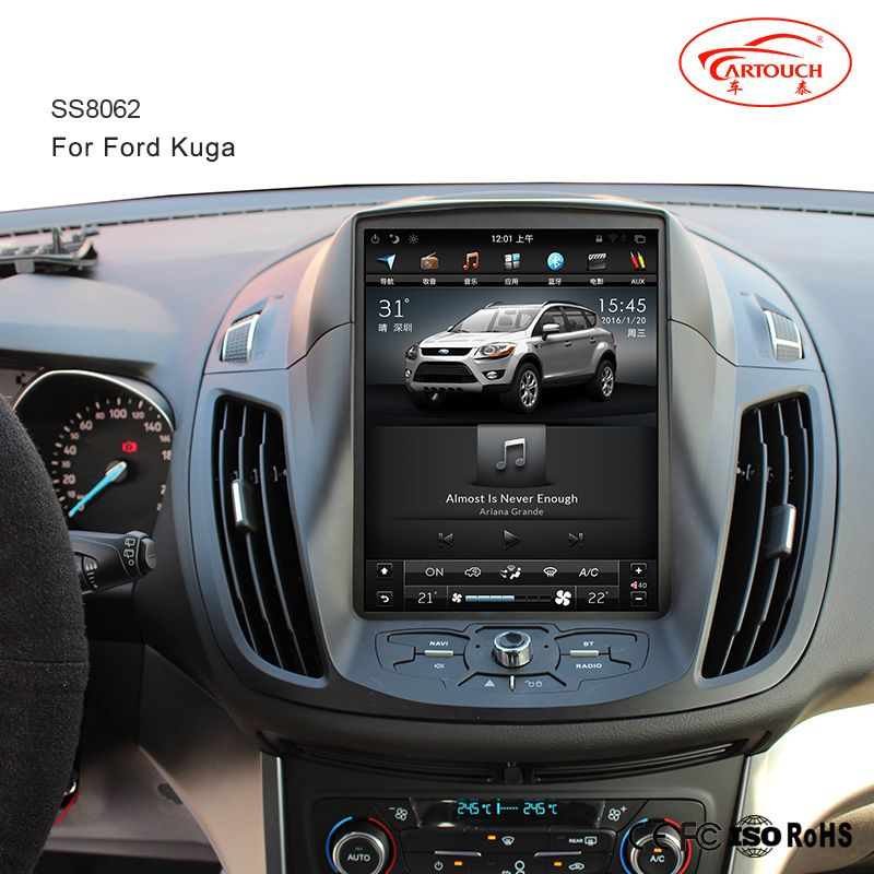 tesla vertical screen indash auto navigation multimedia stereo with android 6 0 os for ford kuga. Black Bedroom Furniture Sets. Home Design Ideas
