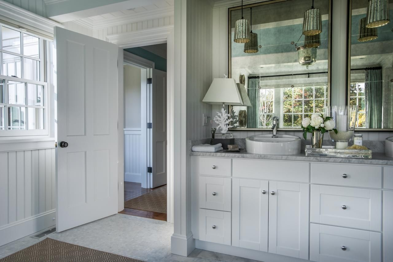 Cabinetry, mirrors, lighting HGTV Dream Home 2015: Master Bathroom | HGTV Dream Home | HGTV