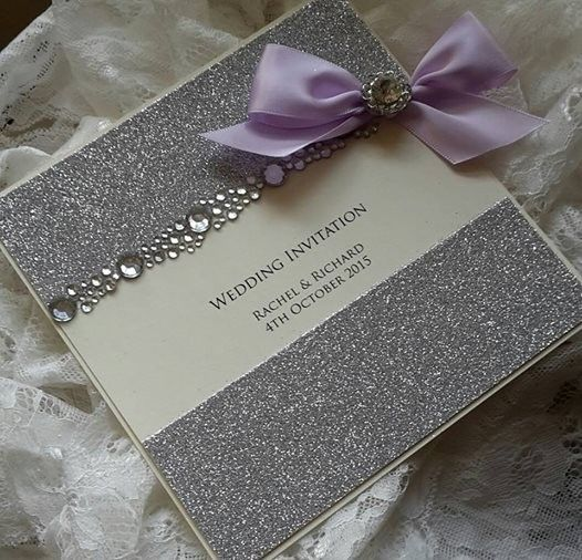 Elegant Wedding Invitations With Crystals | Touches Luxury Wedding  Stationery And Handmade Wedding Invitations .