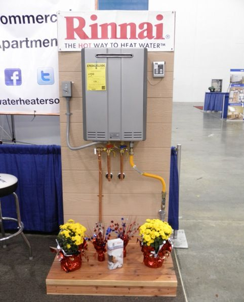 Tankless Water Heater Display From Our Recent Home Show