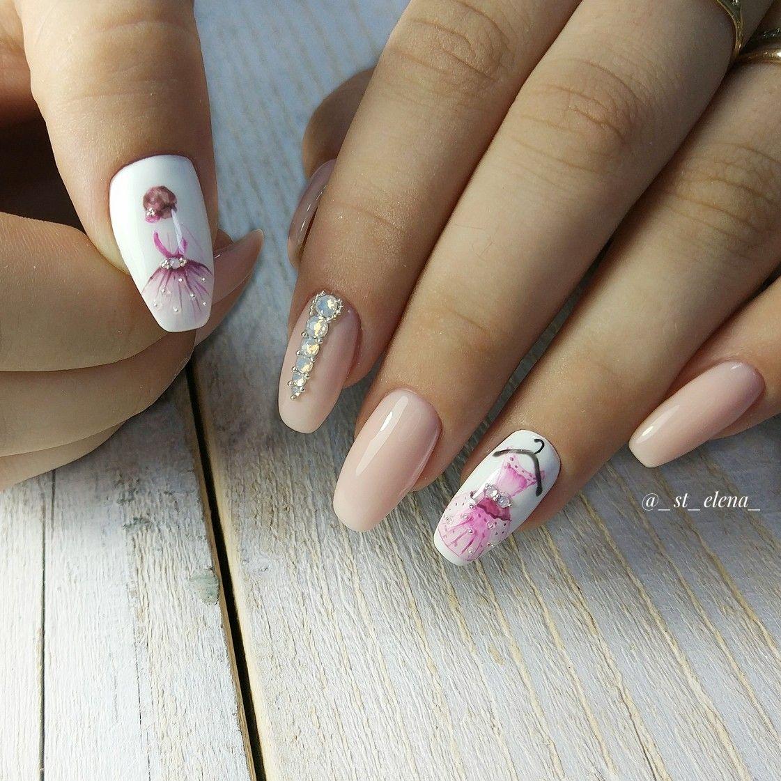 Принцессы: цветочный арт-дизайн ногтей