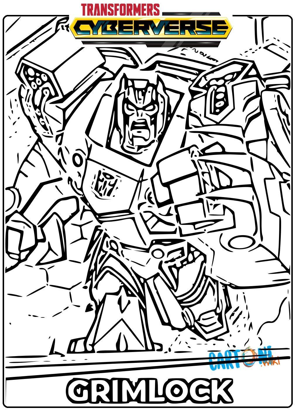 Disegni Da Colorare E Stampare Gratis Transformers.Transformers Cyberverse Disegno Grimlock Da Colorare E Stampare Per Bambini Gratis Online Scopri Tante Altre Stampe Per Bambini Disegni Disegni Da Colorare