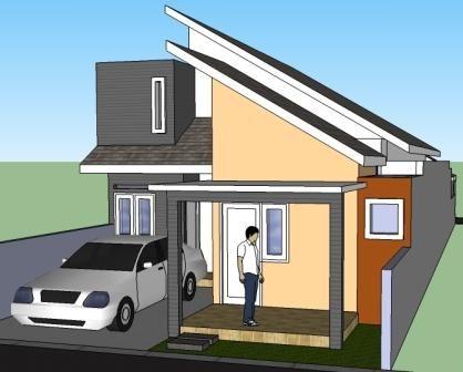desain rumah minimalis 2 lantai atap miring : desain rumah
