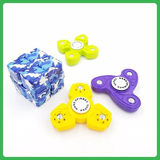 infinity cube 3. akiimy 4 in 1 fidget spinner combined with cube 3 packs + infinity s