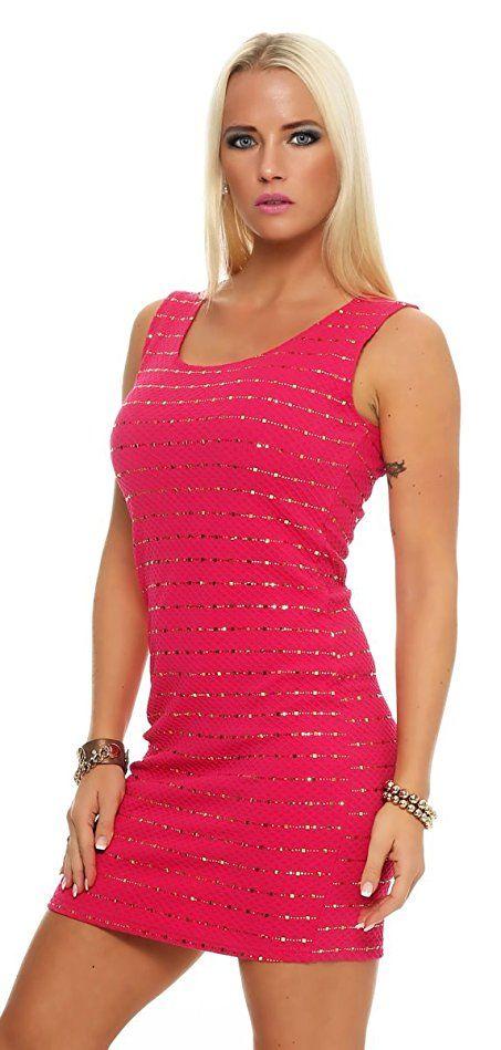 Shoppen Sie 10956 Fashion4Young Damen Glitzer Pailletten Partykleid ...