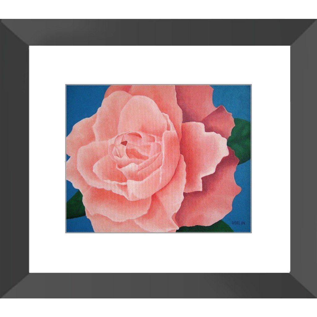 Every Rose - Framed Print of Floral Acrylic Paint Fine Art