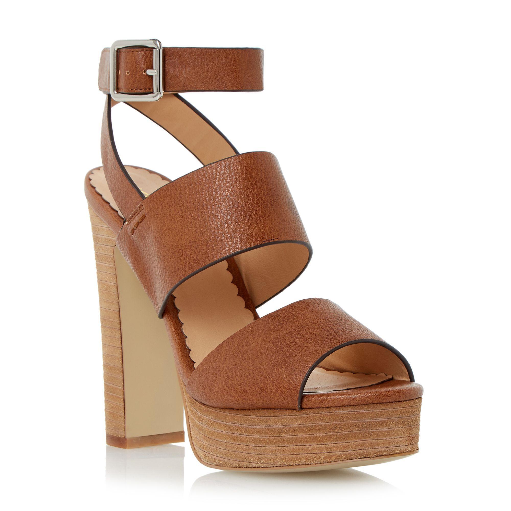 Head Over Heels Mosanne chunky platform sandals, Tan