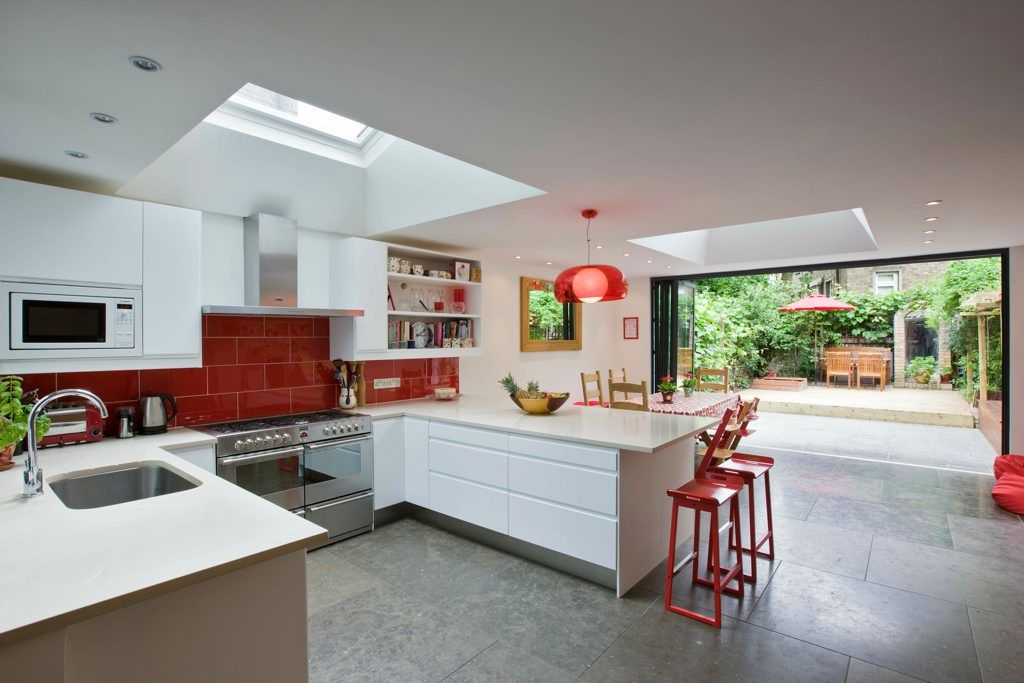 Velux roof lights in kitchen extension | Ideas for the ...