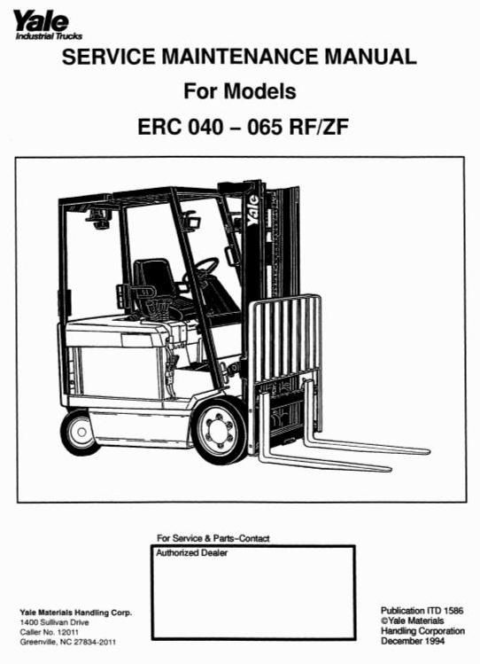 yale forklift truck type erc040 rf zf erc050 rf zf erc060 rf zf rh pinterest com Yale Forklift Enclosures Yale Forklifts Parts Manual Online