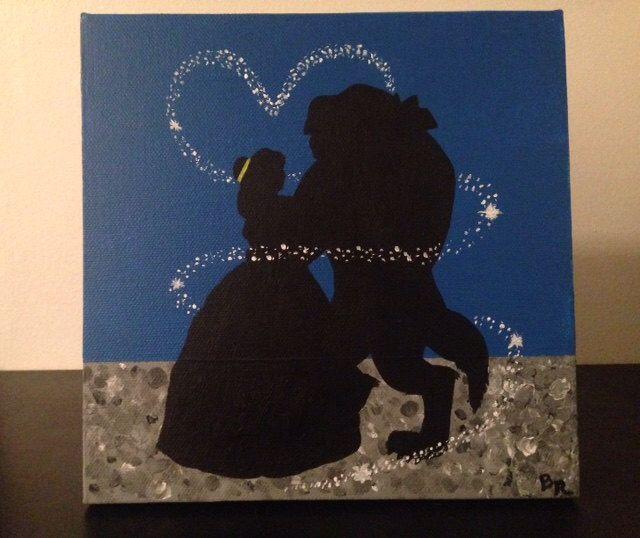 Beauty And The Beast Canvas Art Disney Canvas Disney Canvas Art Beauty And The Beast Crafts