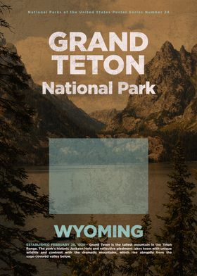 National Parks Usa Series United States poster prints by Design Turnpike | Displate | Displate thumbnail