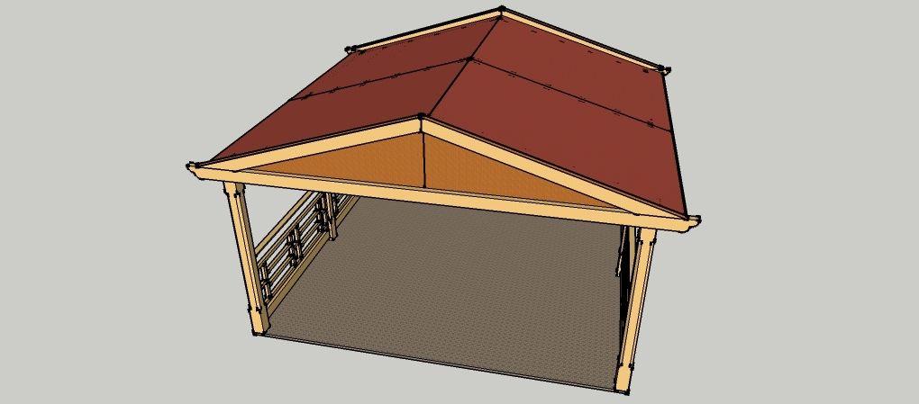 Simple Gartenpavillon x Meter mit Satteldach aus Holz zum selber bauen
