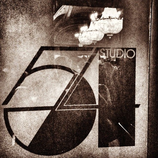 Began as an Opera House in 1927, to a CBS radio studio, to the famed nightclub and now a theater - above - the original logo for Studio 54