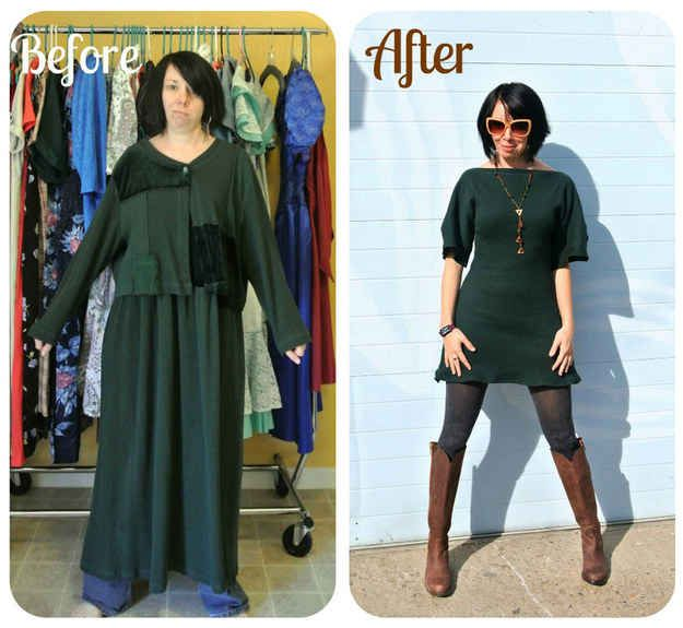 The Stylish Outfits This Woman Makes Out Of Secondhand Clothes Are Incredible Refashion Clothes Thrift Store Outfits Diy Fashion