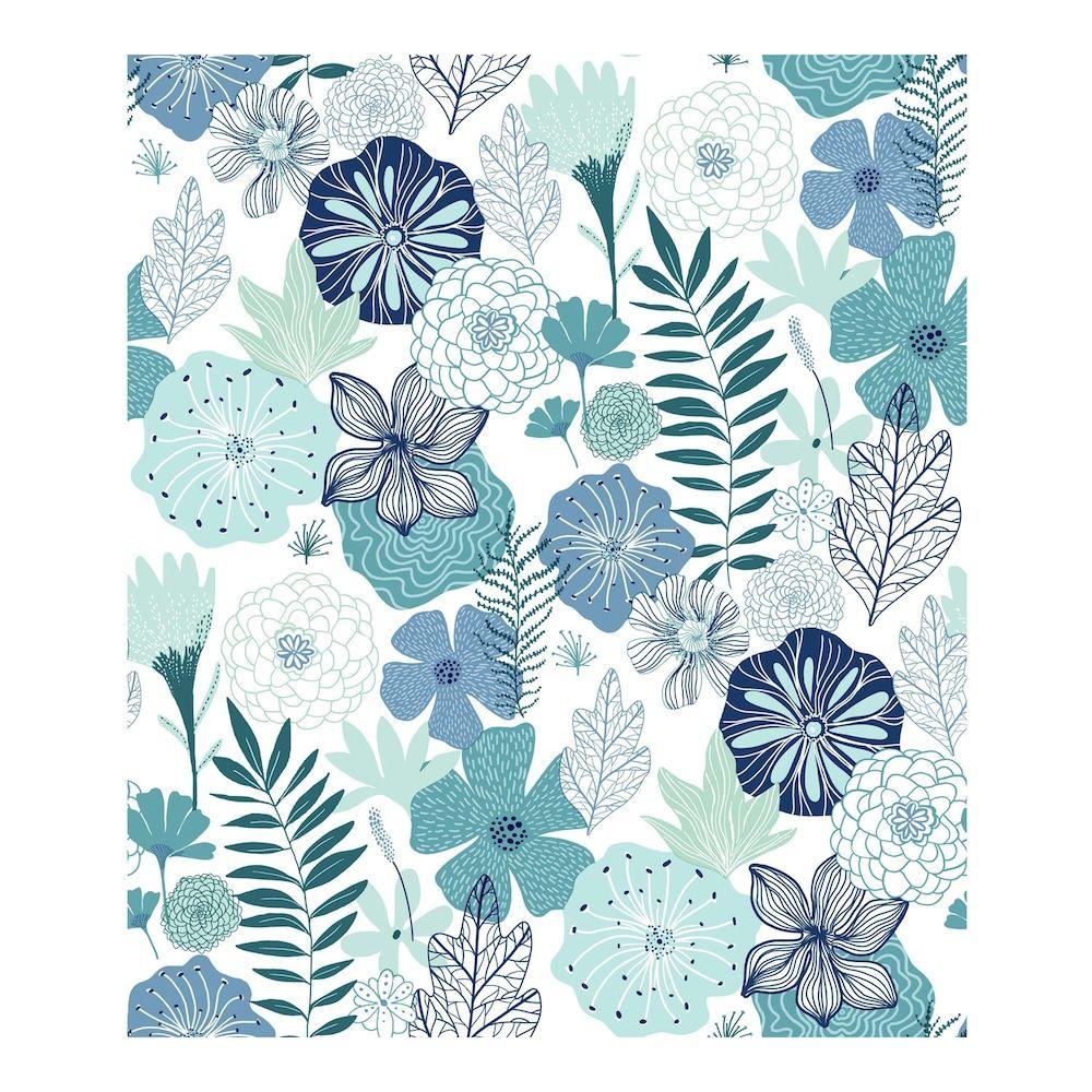 Roommates Perennial Blooms Peel Stick Wallpaper Peel And Stick Wallpaper Peelable Wallpaper Wallpaper Roll