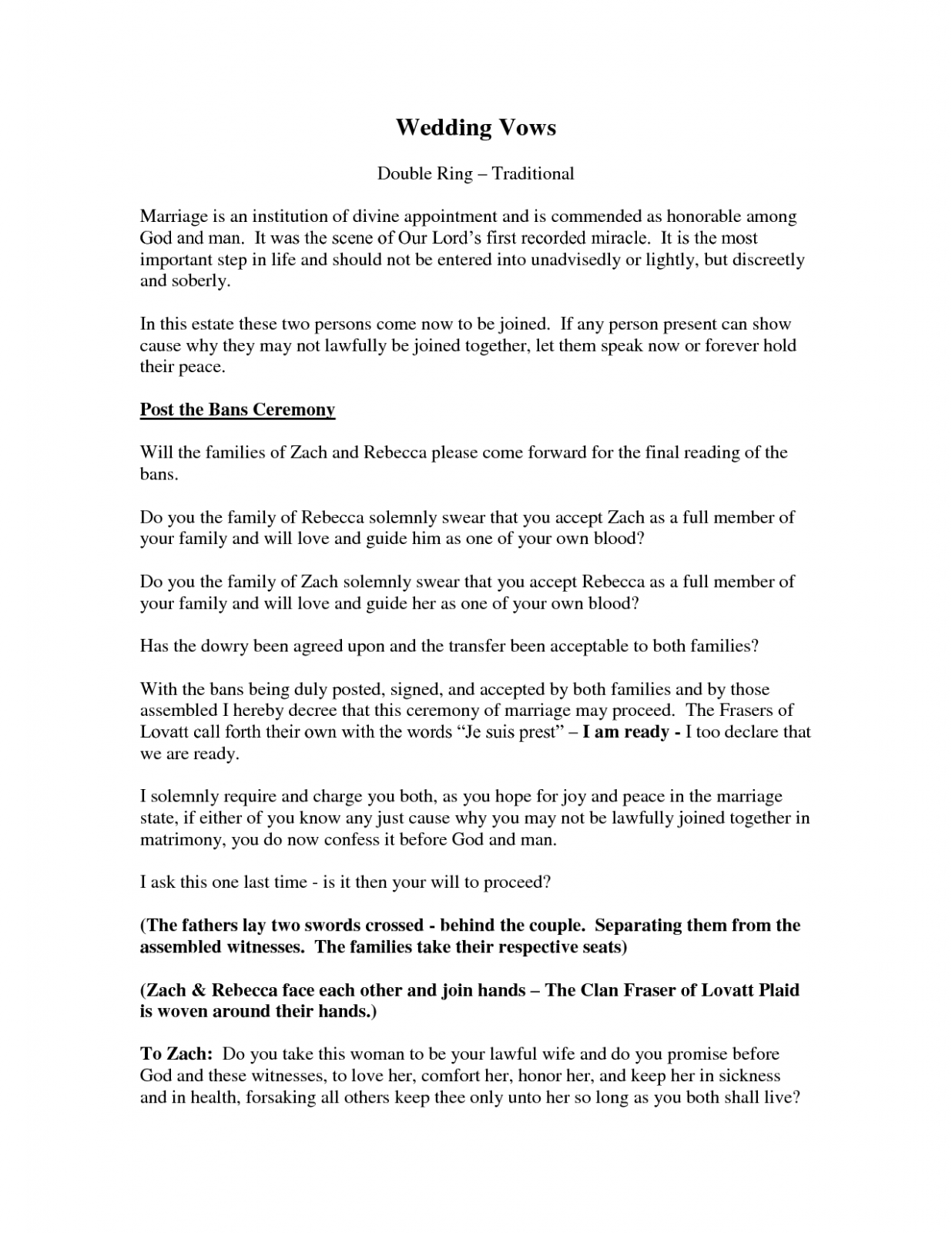 Non Traditional Wedding Ceremony Readings