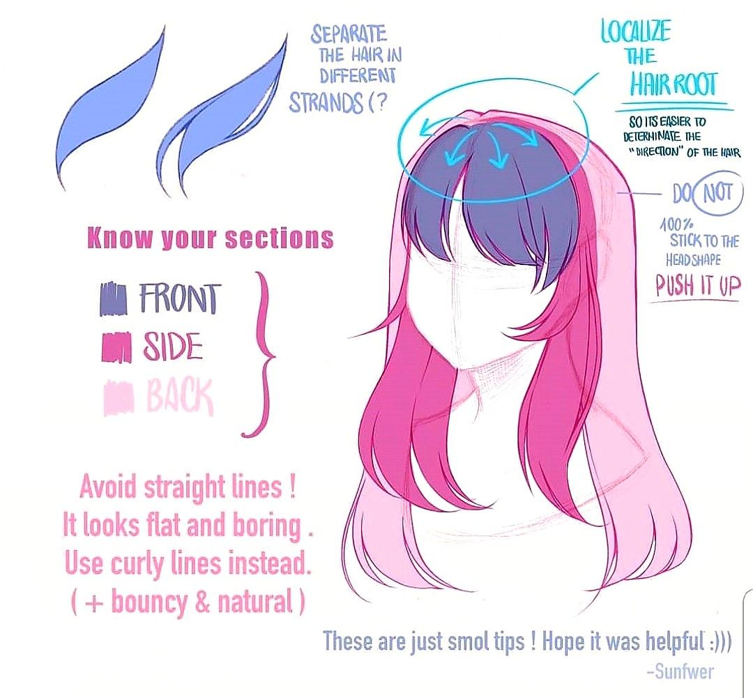 Pin By Katrinav205 On Sketch Drawing Tips Drawing Male Hair How To Draw Anime Hair