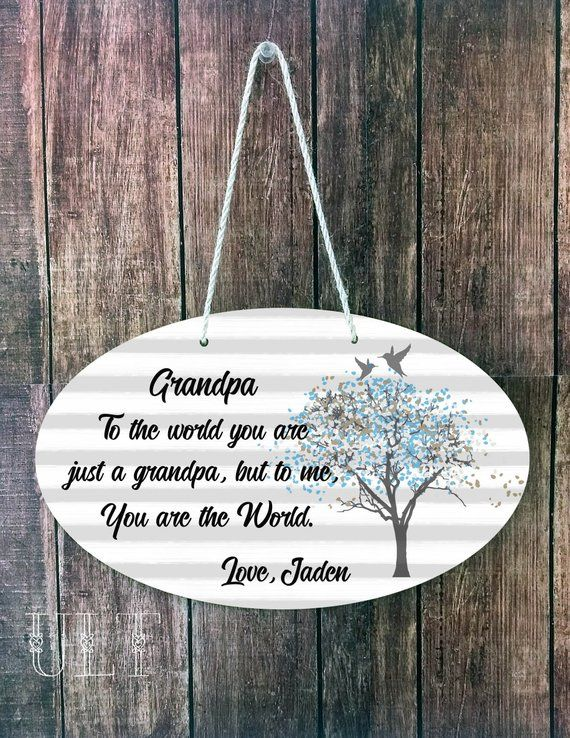 Grandpa gift personalized Grandpa birthday Grandpa Christmas Grandpa gift from granddaughter Grandpa gift from grandson Grandpa Sign Grandad #grandpagifts