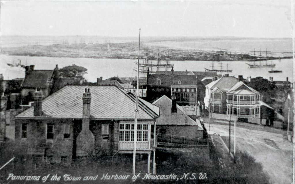 Panorama of Newcastle, NSW, 1906, Panel 1 Newcastle