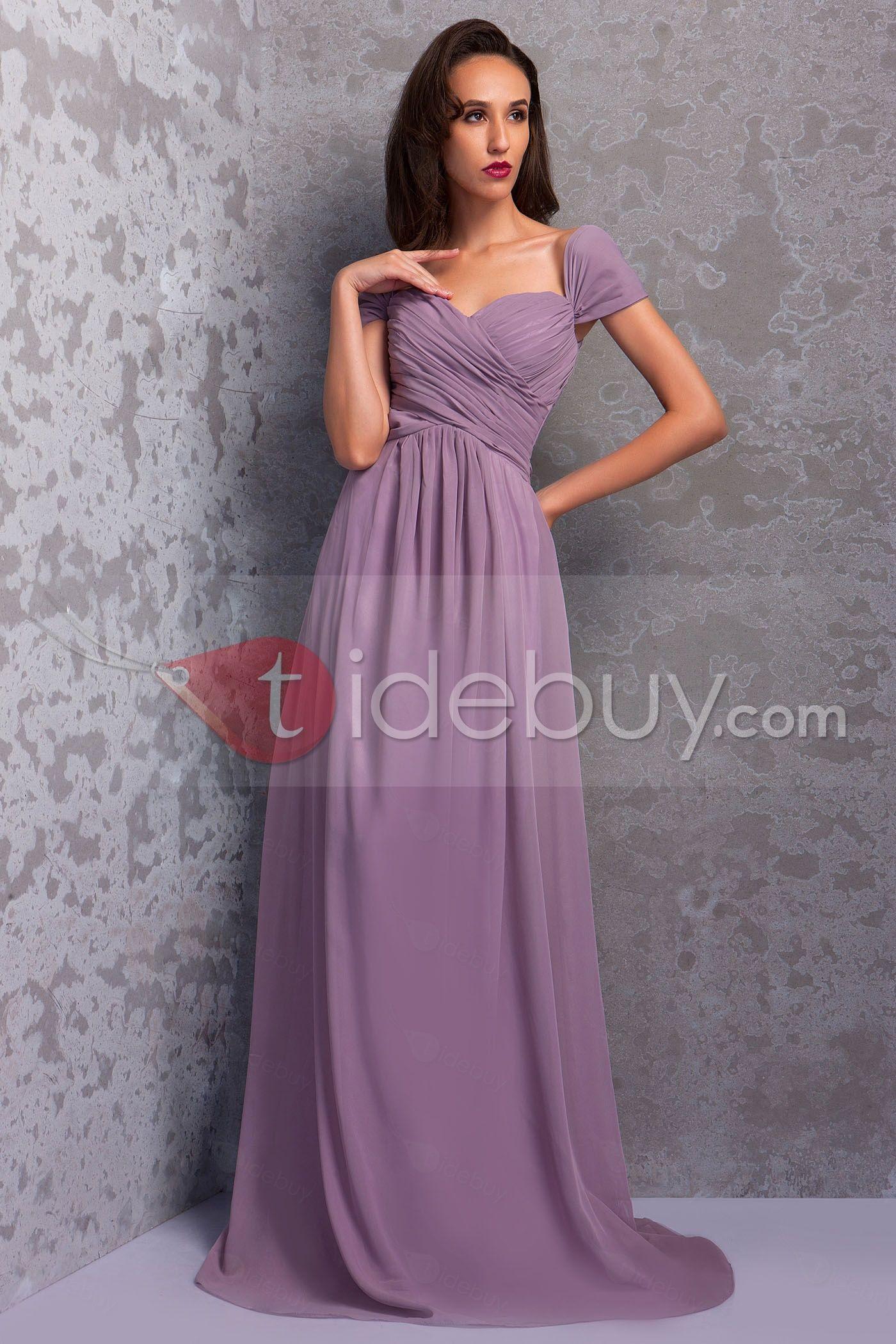 Graceful Pleats A-Line Floor-Length Renata\'s Bridesmaid/Formal Dress ...