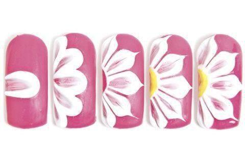 19 Diseños De Uñas De Flores Paso A Paso Diseños De Uñas Flores Tutoriales De Arte De Uñas Tutorial De Uñas Decoradas