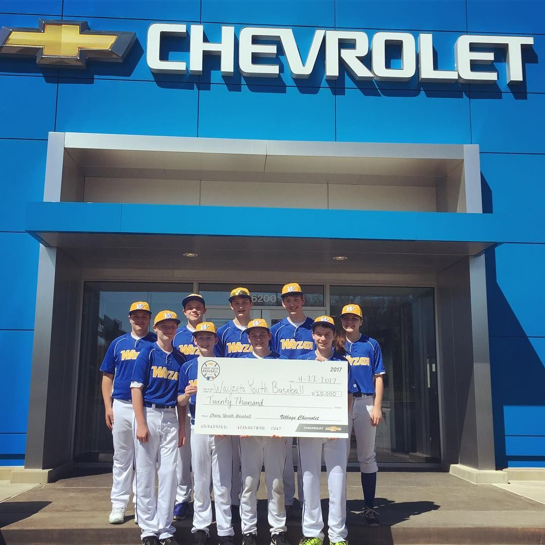 Village Chevrolet Was Proud To Donate This Check To Wayzata Youth