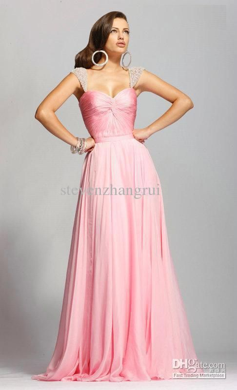 Wholesale Custom Pageant Prom Dress Cap Sleeve Chiffon Cheap Long ...