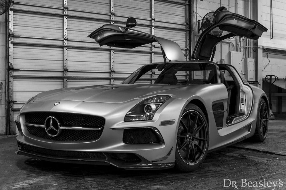 Matte 2014 Mercedes Sls Amg Black Series Con Imagenes