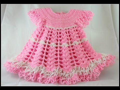 Vestido A Crochet Para Nia De 6 Meses Youtube Tejidos Crochet